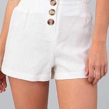 Soul Searching Shorts | White