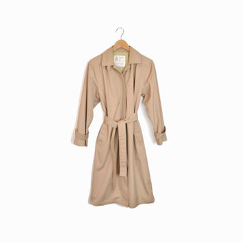 Vintage Classic Tan Trench Coat by London Fog - 10P