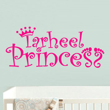 Wall decal decor decals princess name crown nursery inscription letter cartoon cheerful girl story gift (m613)