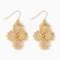 Metallic Floral Chandelier Earrings | Fashion Jewelry | charming charlie