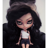 Erregiro custom Blythe doll Photography Amy Winehouse. Digital file ready to print