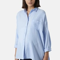 Women's Topshop Oversized Chambray Maternity