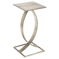 Swan Side Table, Silver