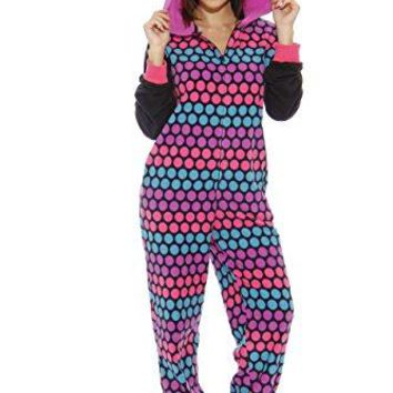 Just Love Animal Print Microfleece Adult Onesuit / One-Piece Character Pajamas