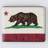 Buckle-Down Cali Bear Wallet White Combo One Size For Men 21656816701