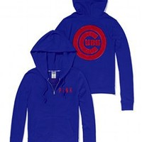 Chicago Cubs Bling Perfect Full Zip Hoodie - PINK - Victoria's Secret