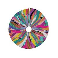 "Danny Ivan ""Pop"" Abstract Multicolor Tree Skirt"