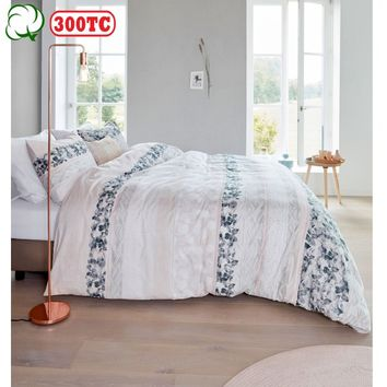 300TC Cotton Percale Forest Voice Coral Quilt Cover Set by Bedding House