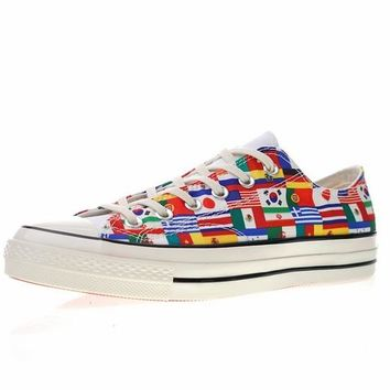 "FIFA World Cup!Converse chuck taylor all star Classic 1970S Low ""World Cup Flag"" Sneaker 163688C"