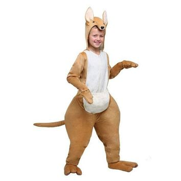 PEAPON Amazing Kids Kangaroo Halloween Boys Costume The King Of Hopping Majestic Australian Animal Cosplay Jumpsuit