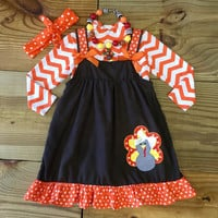 Thanksgiving Chevron Turkey Dress True To SizeTrue To SizeTrue To Size