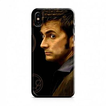Tenth Doctor With Gallifreyan iPhone X Case