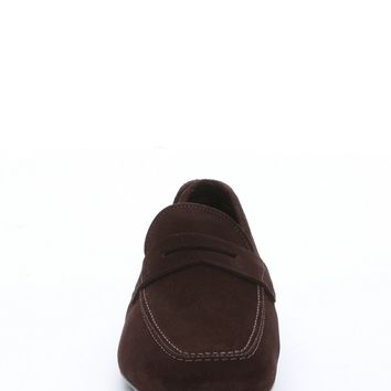 chocolate suede 'Nuevo' driving loafers