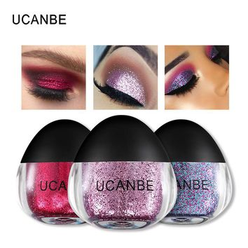 UCANBE New Glitter Eyeshadow 5 Colors Diamond Single Eye Shadow Metallic Powder Creamy Gel Sparkling Festival Beauty Eye Makeup