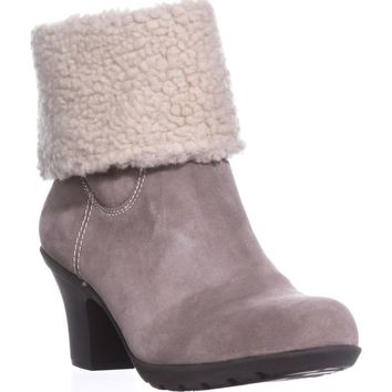 Anne Klein Heward Cuffed Ankle Winter Boots, Taupe/Taupe, 9 US