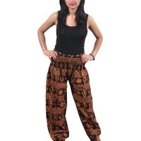 Womans Harem Pant Yoga Bellydance Boho Casual Baggy Pant Om Printed Trousers: Amazon.com: Clothing