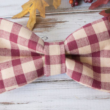 Fall Bow Tie Attachable to Dog Collar I Dog And Bow