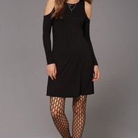 Knit Open-Shoulder Dress