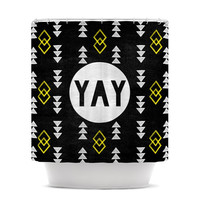 "Skye Zambrana ""Yay"" Shower Curtain"