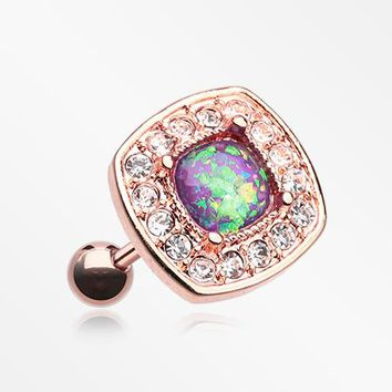 Rose Gold Opal Sparkle Essentia Cartilage Tragus Earring