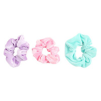 Pastel Velvet Scrunchie Set