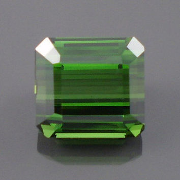 Tourmaline: 8.93ct Green Emerald Shape Gemstone, Natural Hand Made Faceted Gem, Loose Precious Mineral, Cut Crystal AAA Jewelry Supply 20202