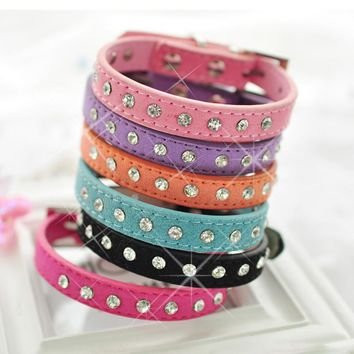 Cat Collars Leashes Harness Set Rhinestone