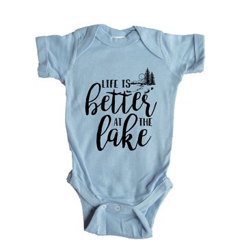 Life Is Better At The Lake Baby Onesuit