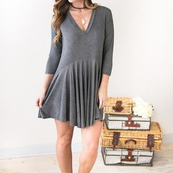 Song In My Soul V-Neck Tunic Dress