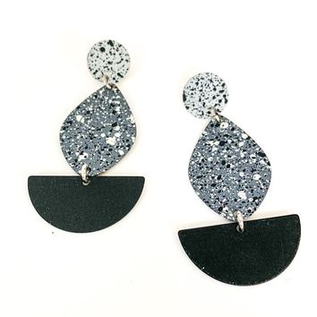Midnight Terrazzo Earrings