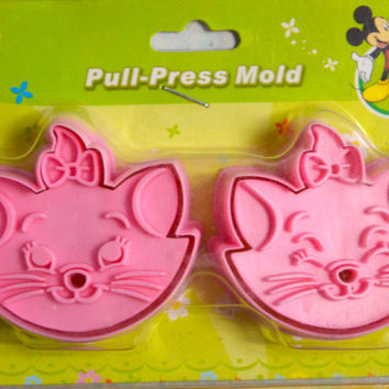 2 Japanese Cookie Cutters -Aristocats