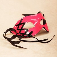 Corsette Rose/Black masquerade mask /req37430 by partymask on Etsy