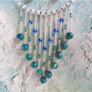 SALE - Waterfall Jewelry Set / Cascading Jewelry / Statement Jewelry Set