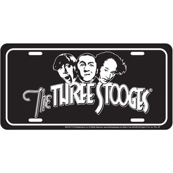 Signs 4 Fun SL3S3 3 Stooges Black, License Plate