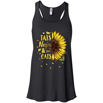 Sunflower Tats Naps And Cats Funny Cat Lover Gift