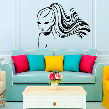 Wall Decal Vinyl Sticker Women Beauty Salon Art Design Room Nice Picture Decor Hall Wall NA85