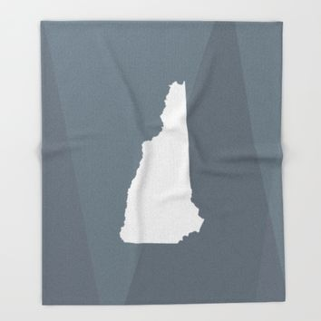 New Hampshire State Throw Blanket by Eric Heikkinen