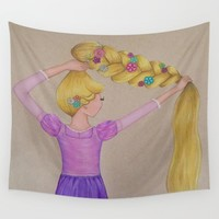 Rapunzel the Lost Princess Wall Tapestry by Sierra Christy Art