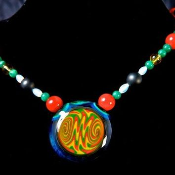 Rasta Wig Wag Pendant Glass by Who