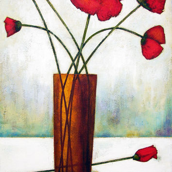Painting Print - Seven Poppies