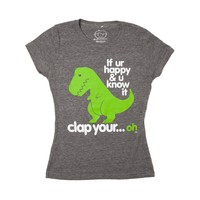 Girls If Your Ur Happy Tee, Gray | Journeys Shoes