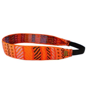 Boho Chic Ethnic Orange Headband