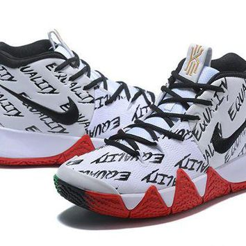 DCCK Nike Kyrie Irving 4 IV Wht/Blk/Red/Green