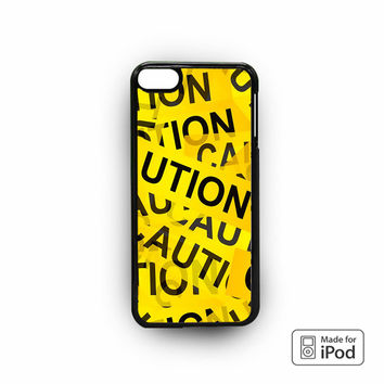 Caution Yellow Tape for iPod 6 apple cases