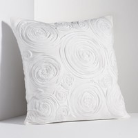 Simply Vera Vera Wang Simplicity Rosette Throw Pillow (White)