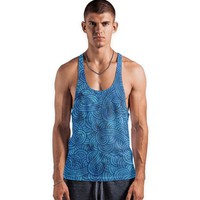 'Turquoise blue swirls doodles' Vests by Savousepate on miPic