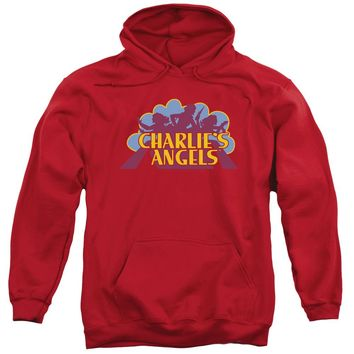 Charlies Angels - Faded Logo Adult Pull Over Hoodie
