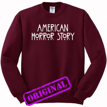 American Horror Story for Sweater maroon, Sweatshirt maroon unisex adult