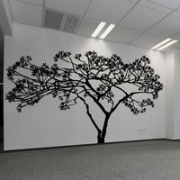 Vinyl Wall Decal Sticker Wide Tree #AC156
