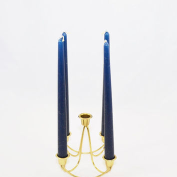 Vintage Candle Holder Brass Candle Holder Taper Candle Holder Candelabra Mid Century Modern Wedding Candles Minimalistic